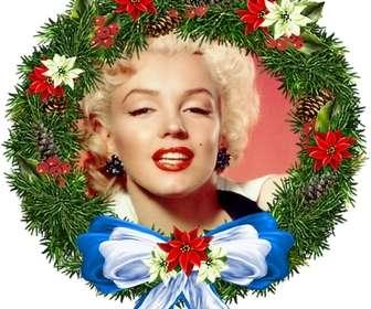 """Photo frame di Natale tutto l""""ornamento di forma in cui si può mettere la foto di sfondo. Per inviare per e-mail."""