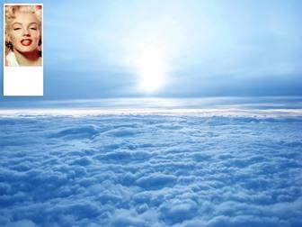 Personalizzato Twitter sfondo del cielo con le nuvole. Metti la tua foto su di esso.