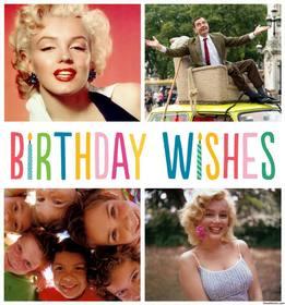 Auguri di compleanno collage di quattro foto e festeggiare il tuo compleanno