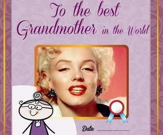 Diploma da stampare e personalizzare con una foto di tua nonna online gratuito.