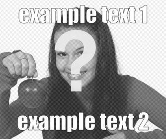 Creatore di meme online a che fare con le vostre foto. Mettere il testo che si desidera in una foto online.
