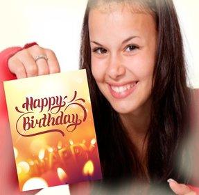 Greeting Card di compleanno di mettere la tua foto a sfondo