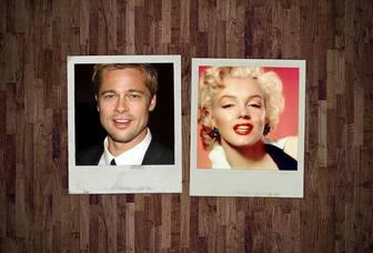 Collage per due in stile Polaroid Foto