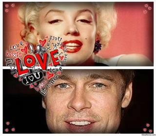Collage di amore per due foto con un cuore fatto di parole - Parole con due significati diversi ...