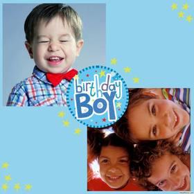 Collage di compleanno ragazzo è possibile modificare in linea