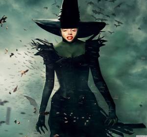Fotomontaggio della strega Oz di mettere una foto del tuo volto su di esso.