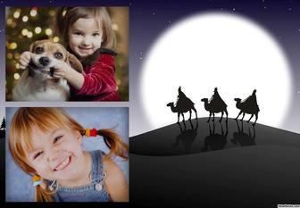 Foto collage con i Magi che è possibile modificare con le tue foto