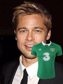 Incollare la maglia di calcio dIrlanda nelle foto come adesivo in linea