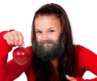 Fotomontaggio per mettere una barba sulla tua foto.