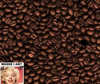 Gioco: trova il viso tra i chicchi di caffè. Aggiungi una foto per nasconderlo.