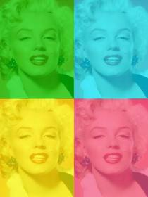 Pop Art box personalizzato con la tua foto, verde, blu, giallo e rosa. Carica una foto, ritagliata e poi applicare il filtro che usano questa pagina come un editor di foto gratis.