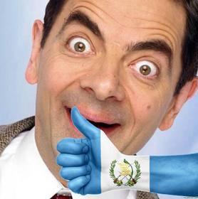 Mano con la bandiera del Guatemala dipinto in cui è possibile aggiungere la vostra foto