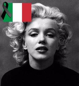 Italia bandiera con un nastro nero lutto per incollare nelle vostre foto
