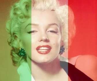 """Foto effetto dove si può mettere la bandiera d""""Italia con la tua foto online."""