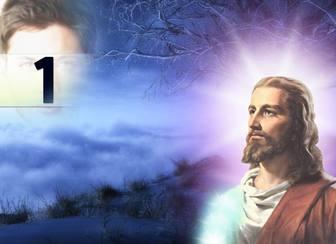 Foto collage con Gesù Cristo in cui è possibile mettere la tua foto.