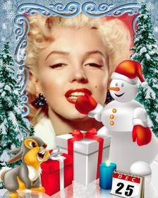 Fotomontaggio giorno di Natale da personalizzare con le foto.