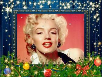 Cornice blu per il Natale decorazione foto. telaio