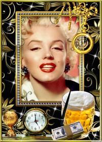 Cornice per una foto con oro, argento e diamanti.