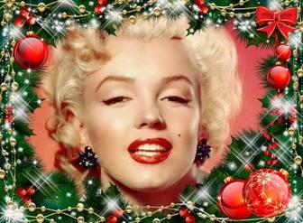 Photo frame con una ghirlanda di Natale.