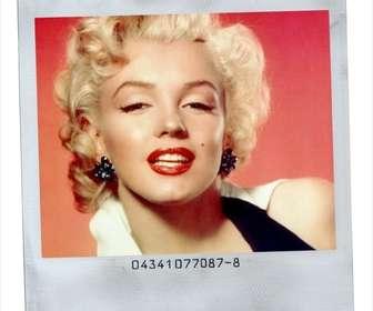 Stile della cornice Polaroid foto con sfondo bianco.