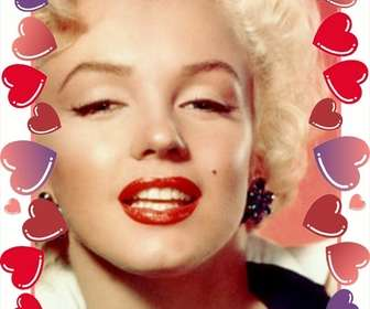 Cornici per foto di cuori e rose rosse per San Valentino in cui si inserisce la foto con i vostri cari.