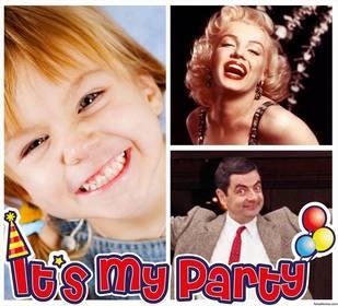Foto collage di suo il mio parti per modificare con due delle vostre foto online