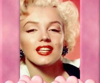 """Cornice con bordo rosa decorati con cuori. Carica una foto, ritagliare e mettere questo bordo come una decorazione che ispira l""""amore."""