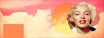 Fotomontaggio di una foto di copertina per Facebook con nuvole rosa
