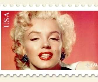 Collage di mettere la tua foto su un francobollo da fare online.