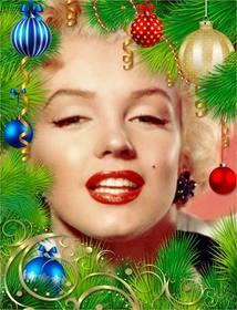 Corona di Natale per decorare la tua foto.
