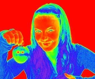 """Photo Filter effetto termografia, rende l""""immagine termica delle immagini caricate."""