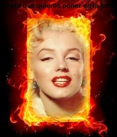 Fotomontaggio fuoco che si può fare con le tue foto online.