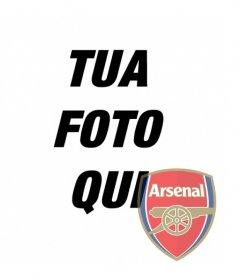 Collage di mettere scudo Arsenal nella foto. Perfetto per mettere il tuo avatar