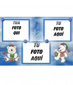 Divertente cartolina di Natale in cui è possibile inserire 3 foto