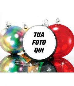 Assemblea di Natale di mettere la tua foto su una palla di Natale, molto divertente