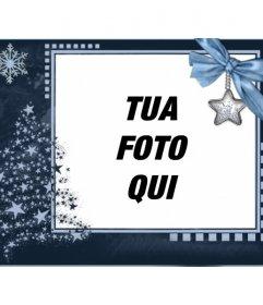 Cartolina di Natale classico, personalizzabile con una foto