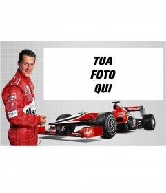 Michael Schumacher fotomontaggio