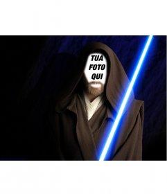 Fotomontaggio di Obi Wan Kenobi in Star Wars il film. Creare il collage con le vostre foto