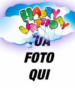 Cartoline Felice auguri di compleanno con palloncini