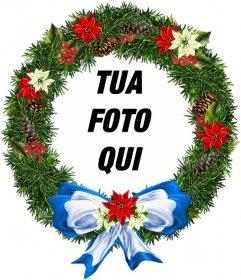 Cornice per foto a forma di ornamento di Natale rotondo