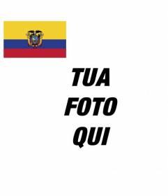 Personalizza il tuo Facebook con la bandiera Ecuador tua immagine del profilo