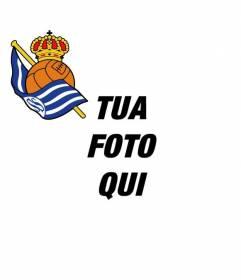 Montaggio foto per mettere lo scudo della Royal Society di San Sebastian, a mettere lo scudo sul vostro Twitter o Facebook avatar.