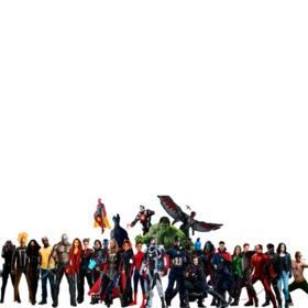 Fotomontaggio con i personaggi di Avengers Infinity War