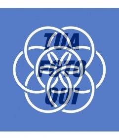 Bandiera Terra simboleggia la pace e lunità del popolo di mettere a tua immagine del profilo