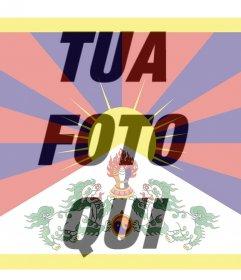 Foto filtro del Tibet flag che è possibile utilizzare come immagine del profilo