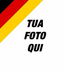 Mettere la bandiera della Germania in un angolo del vostro effetto quadri