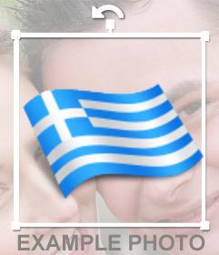 Grecia bandiera sventola a mettere le tue foto online con il nostro editor on-line