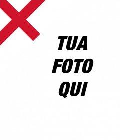 Foto effetto di aggiungere la bandiera dInghilterra sulle immagini