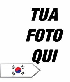 Fotomontaggio online per aggiungere una freccia con la bandiera della Corea del Sud