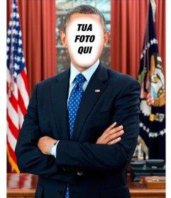 Fotomontaggio di mettere la tua foto a Presidente degli Stati Uniti Barack Obama